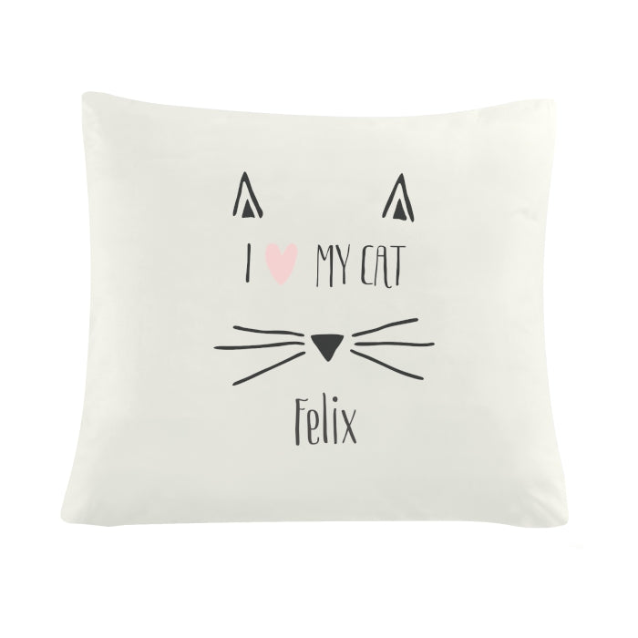 Personalised Cat Features Cushion Cover