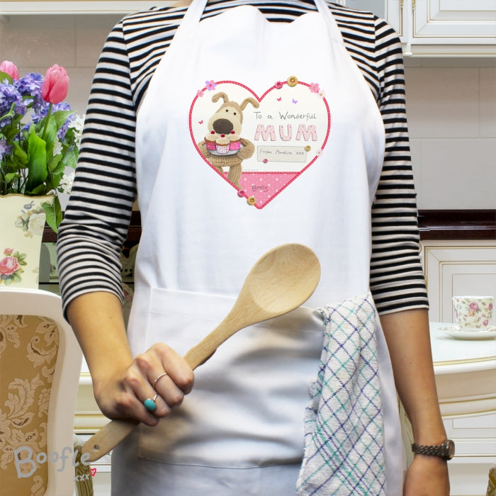 Personalised Boofle Flowers Apron