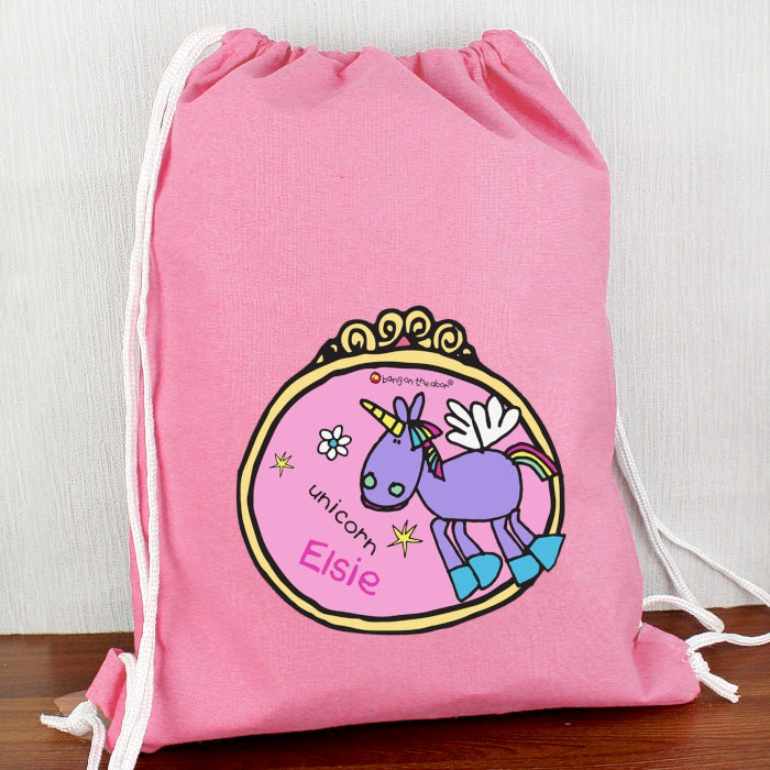 Personalised Bang on the Door Unicorn Swim & Kit Bag