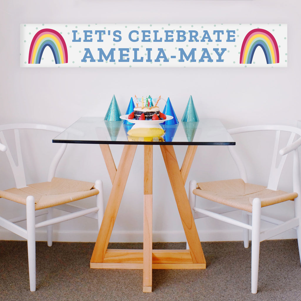 Personalised Rainbow Banner