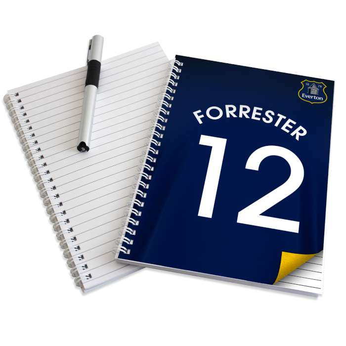 Personalised Everton Notebook