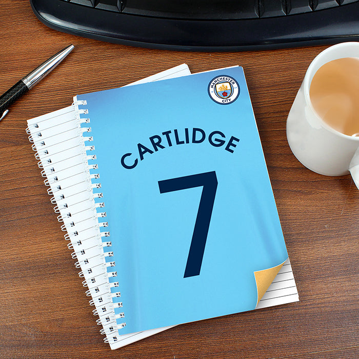 Personalised Manchester City A5 Notebook