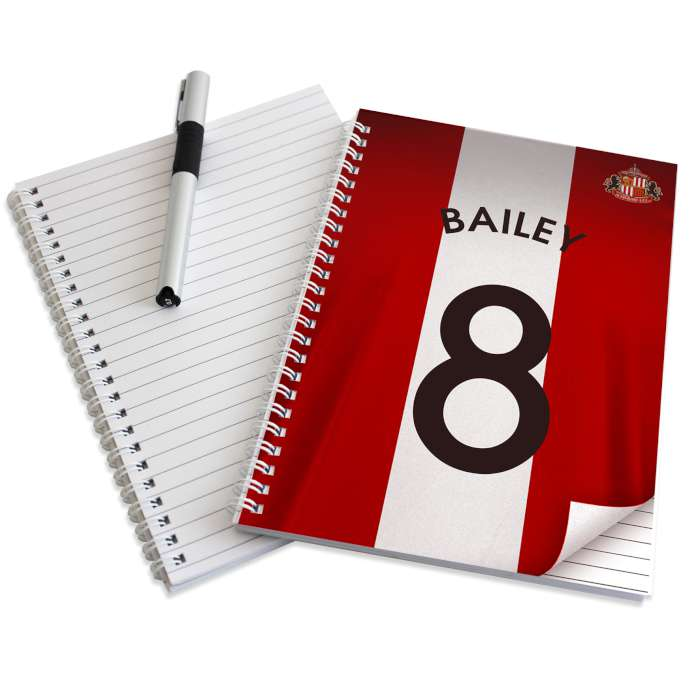 Personalised Sunderland A4/A5 Notebook