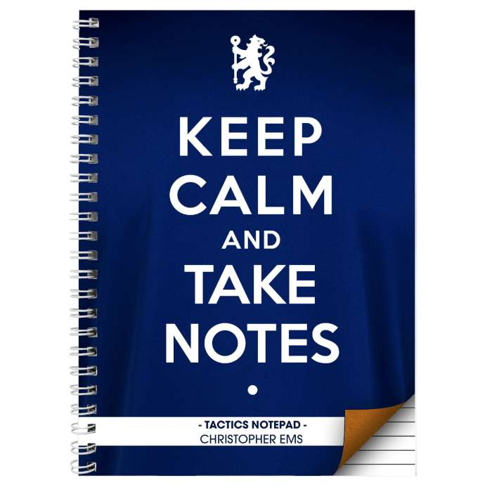 Personalised Chelsea Keep Calm Notebook