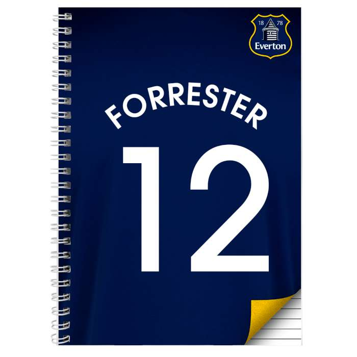 Personalised Everton A4 Notebook