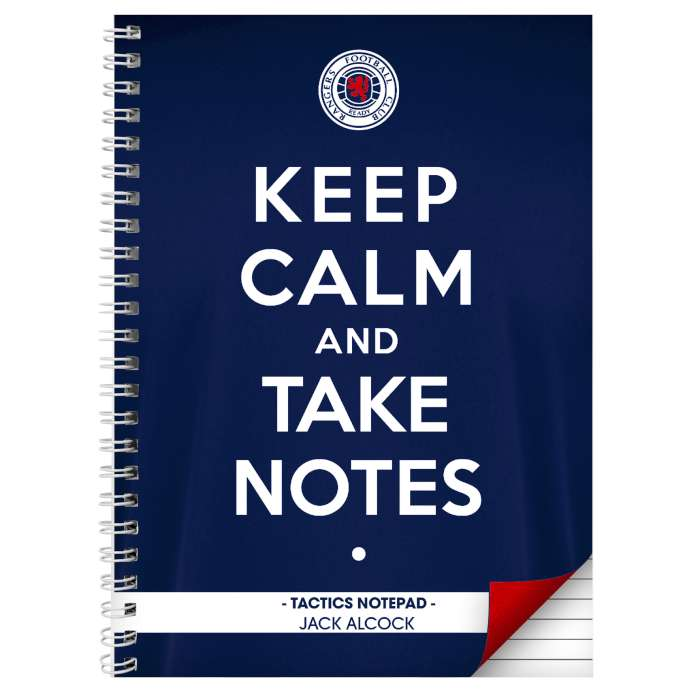 Personalised Rangers Keep Calm A4 Notebook