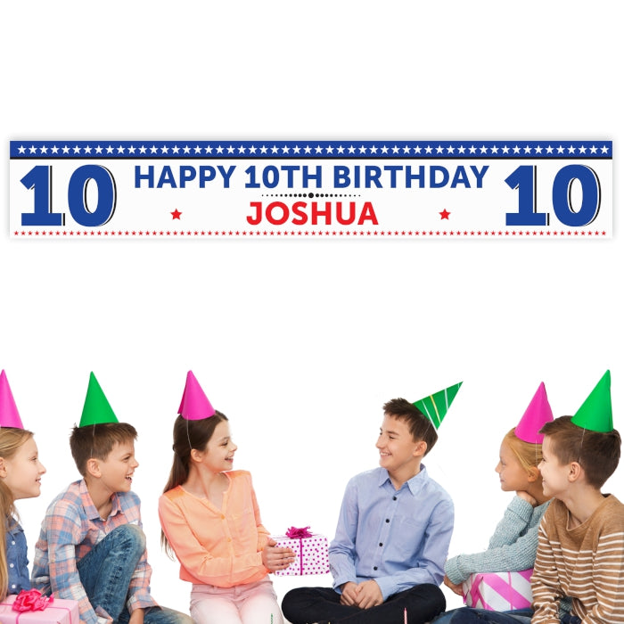 Personalised Birthday Star Banner