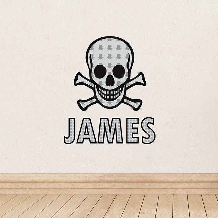 Personalised Skull & Bones Wall Art