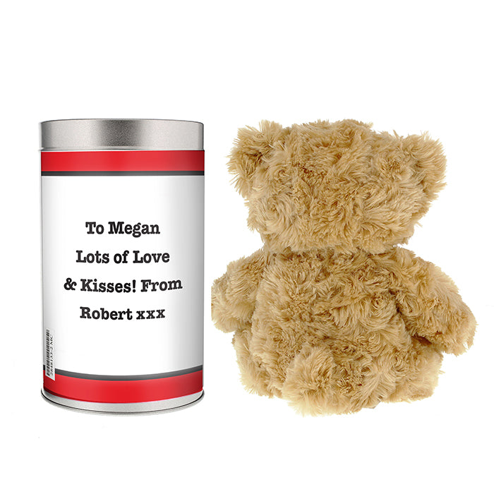 Personalised I HEART Teddy in a Tin