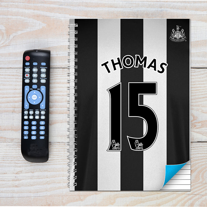 Personalised Newcastle United A4 Notebook
