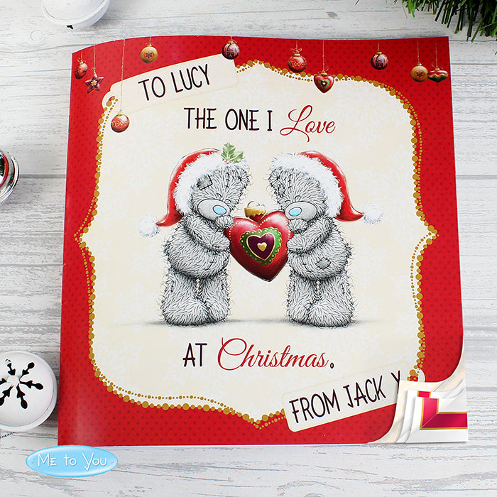 Personalised Me to You The One I Love at Christmas Poem Book