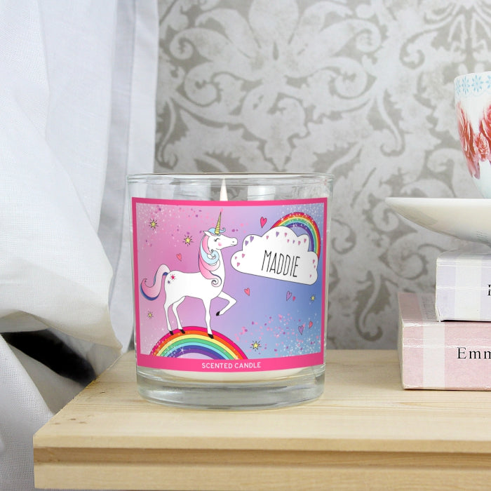 Personalised Unicorn Scented Jar Candle