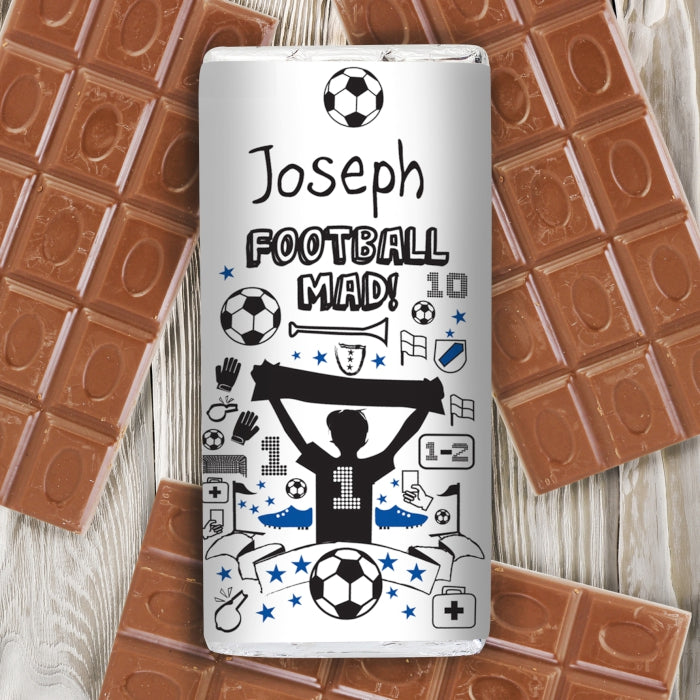 Personalised Football Milk Chocolate Bar