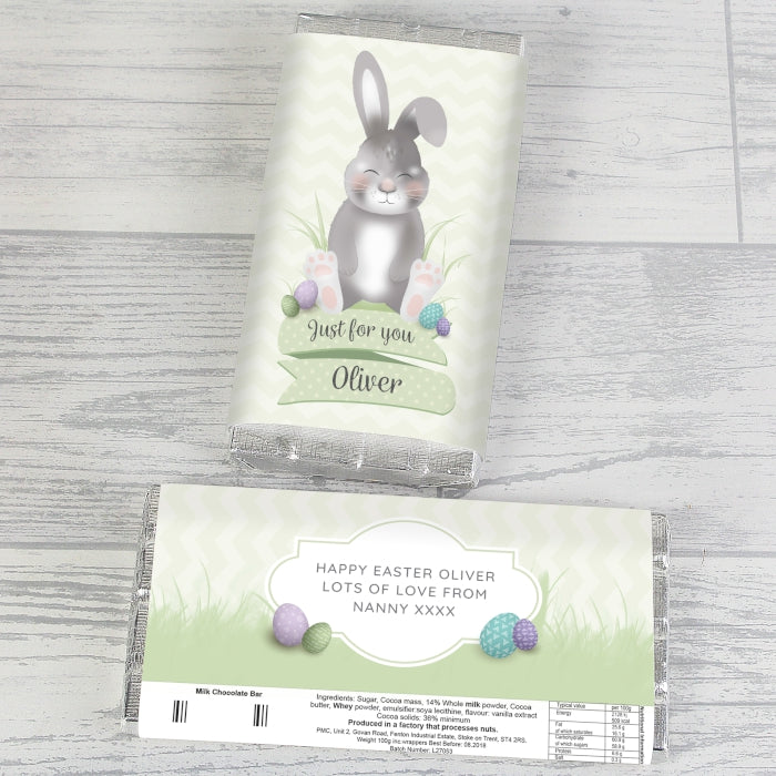 Personalised Easter Bunny Chocolate Bar