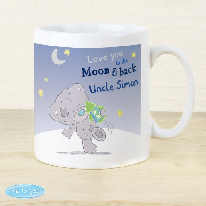 Personalised Tiny Tatty Teddy To the Moon & Back Mug