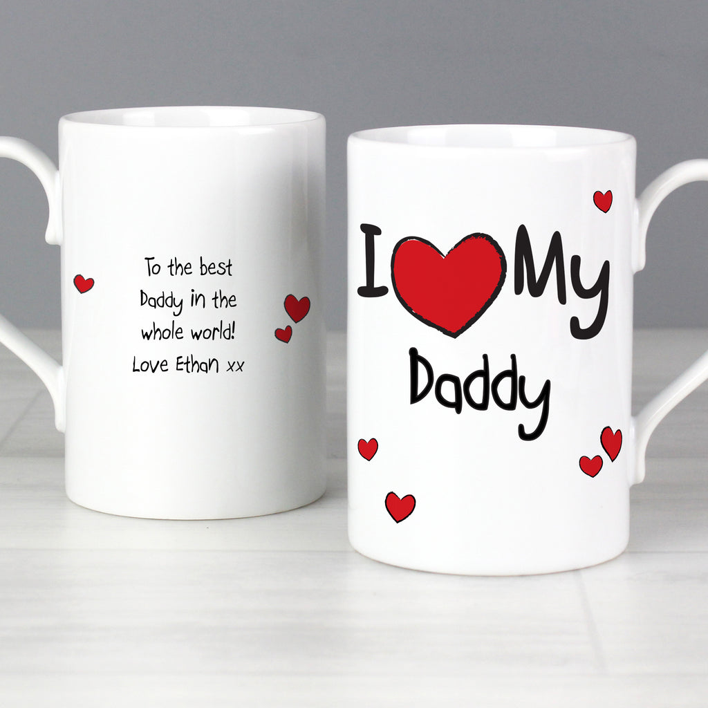 Personalised 'I Heart My...' Slim Mug