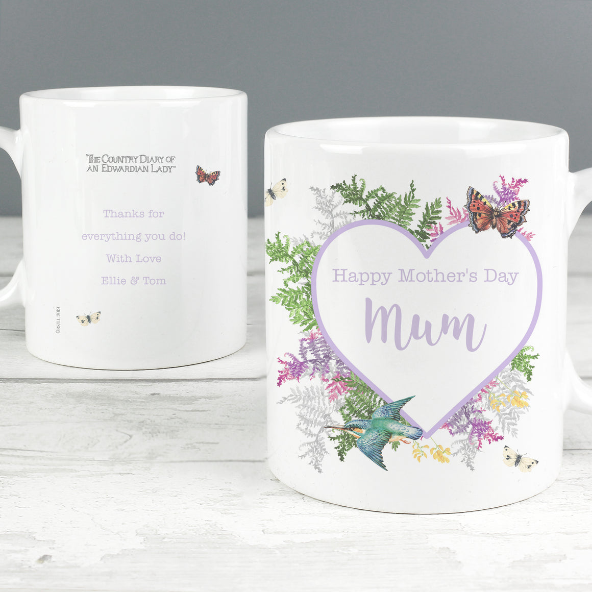 Personalised Country Diary Botanical Mug