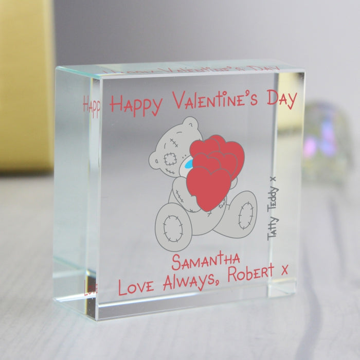 Personalised Me to You Big Heart Medium Crystal Token