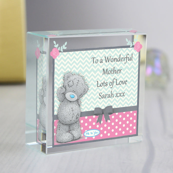 Personalised Me To You Pastel Polka Dot for Her Medium Crystal Token