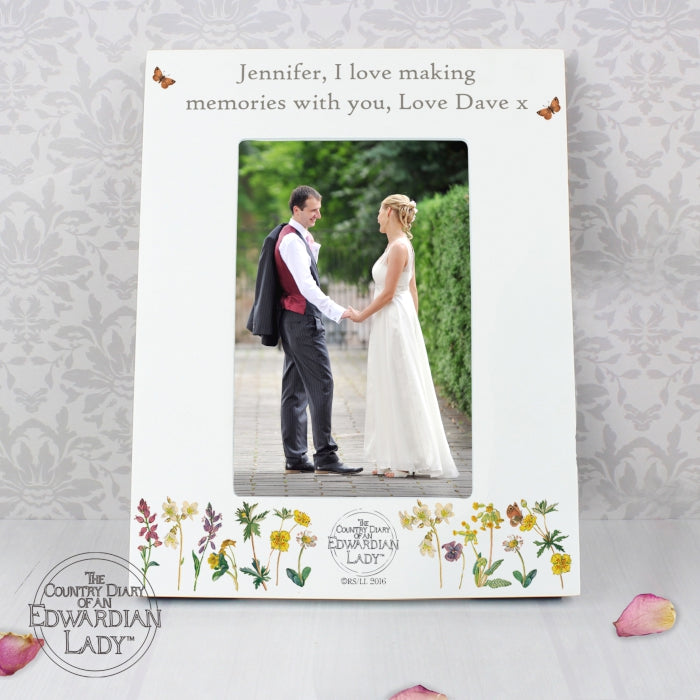 Personalised Country Diary Wild Flowers 4x6 Photo Frame