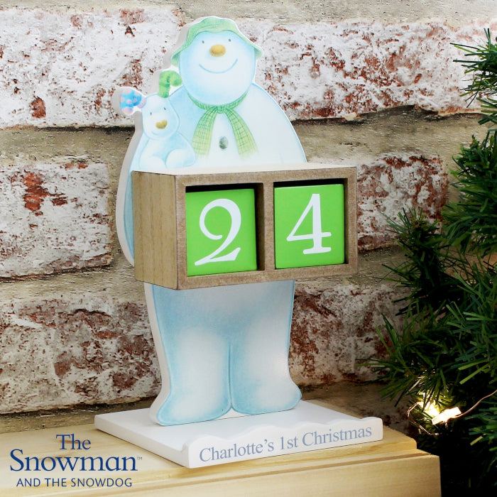 Personalised The Snowman and the Snowdog Perpetual Advent Calendar