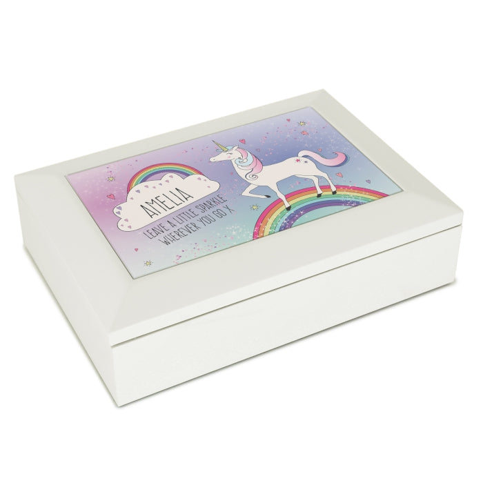 Personalised Unicorn Jewellery Box