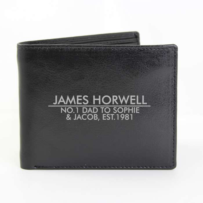 Personalised Classic Leather Wallet