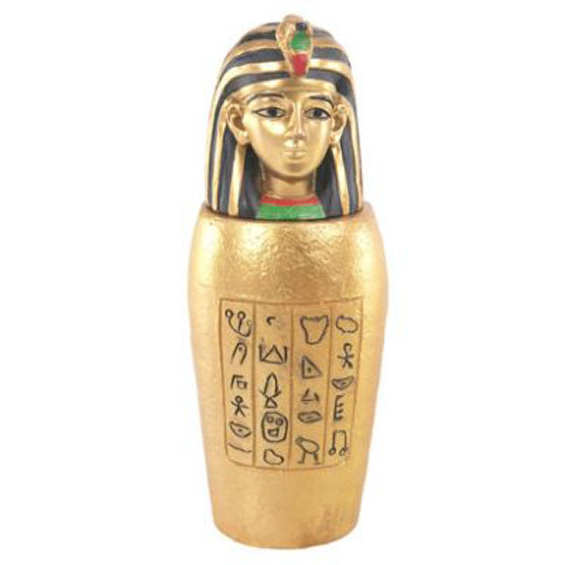 Decorative Gold Egyptian Canopic Jar Trinket Box