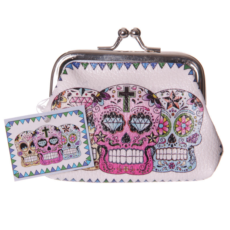 Fun Mini Coin Purse - Candy Skull Day of the Dead