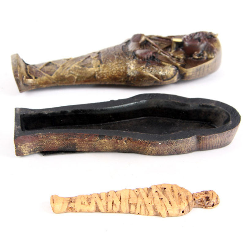 Mini Egyptian Sarcophagus with Mummy