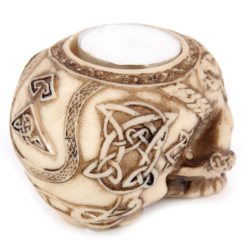 Celtic Skull Head Tealight Holder