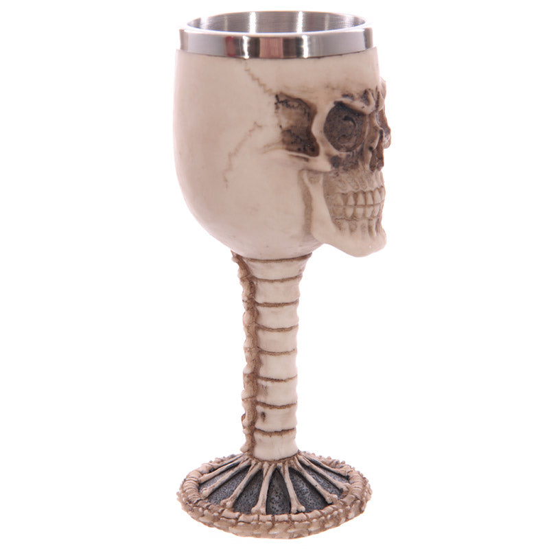 Decorative Gothic Skull and Spine Goblet