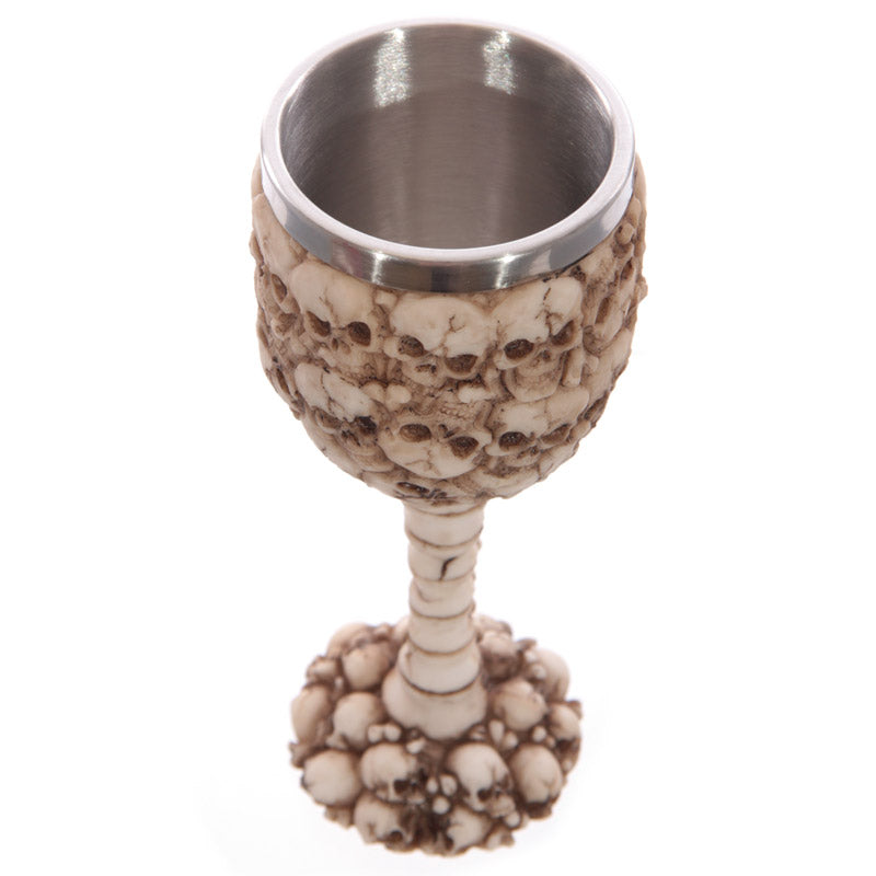 Decorative Gothic Multi Skulls and Spine Goblet