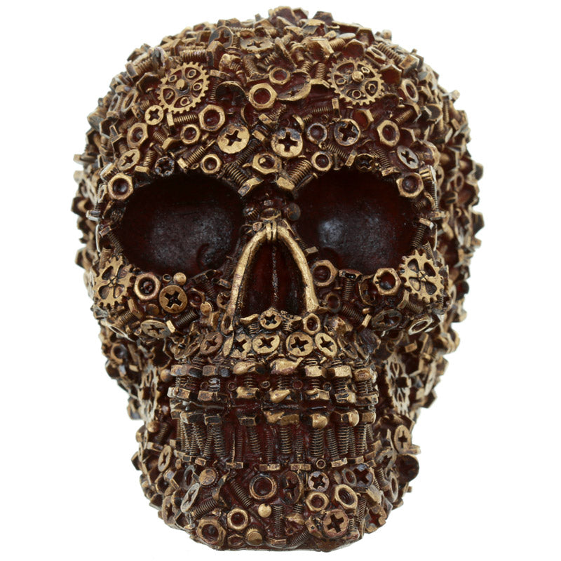Gothic Collectable Nuts and Bolts Skull Decoration