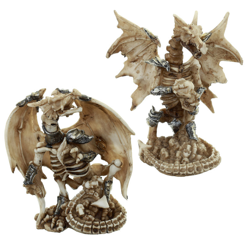 Gothic Collectable Warrior Dragon and Skull Decoration