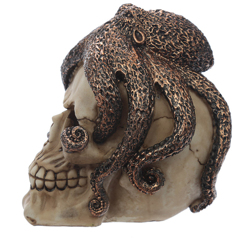 Fantasy Skull with Octopus Head Ornament