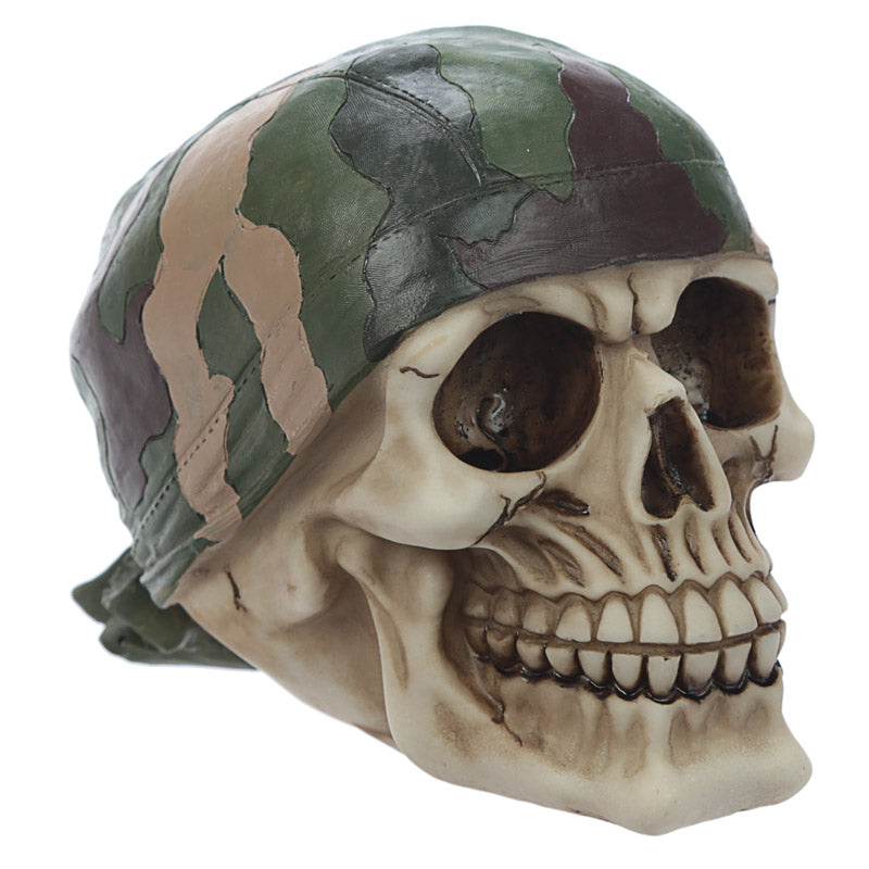 Fantasy Skull with Camouflage Bandana Ornament