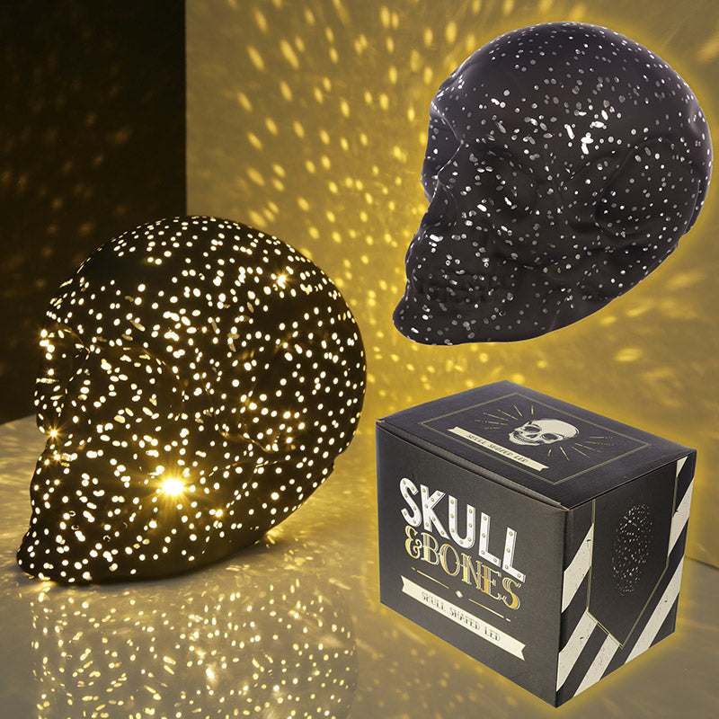 Decorative LED Light - Small Black Skull
