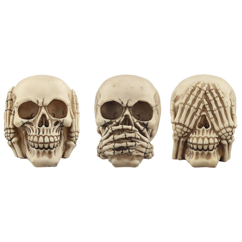 Fantasy Skull Set - See No Evil, Speak No Evil, Hear No Evil
