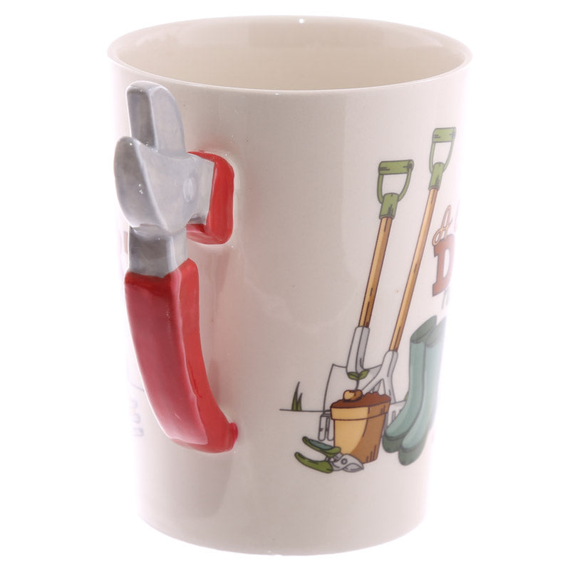 Fun Garden Secateurs Shaped Handle Ceramic Mug