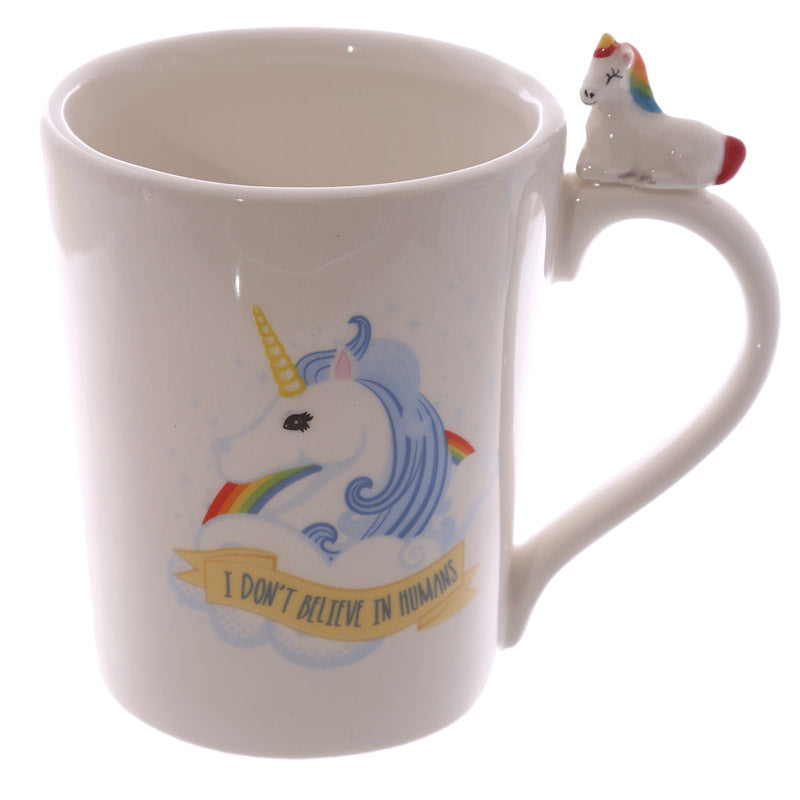 Fantasy Unicorn Handle Shaped Ceramic Mug