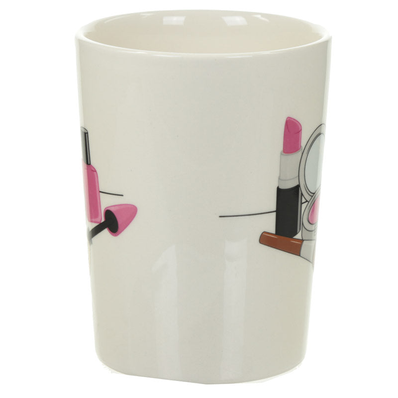Fun Lipstick Shaped Handle Ceramic Mug