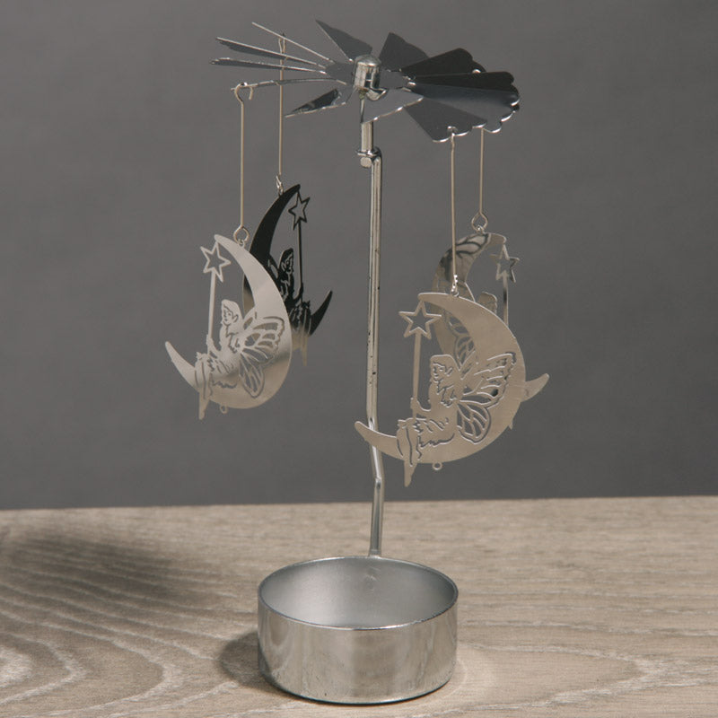 Moon Fairy Design Metal Tealight Spinner