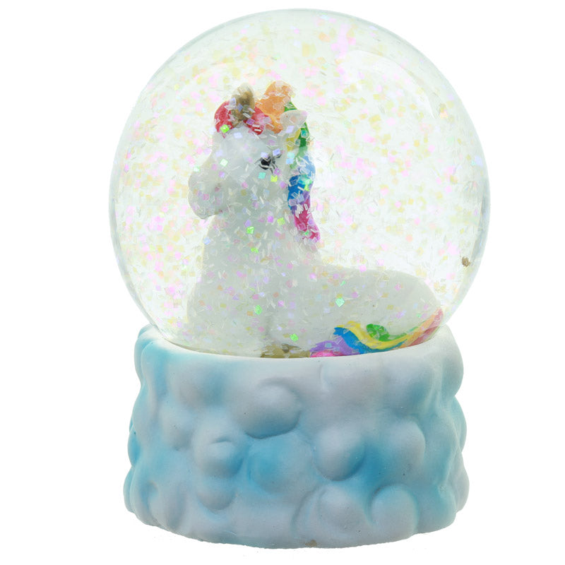 Cute Collectable Rainbow Unicorn Snow Globe