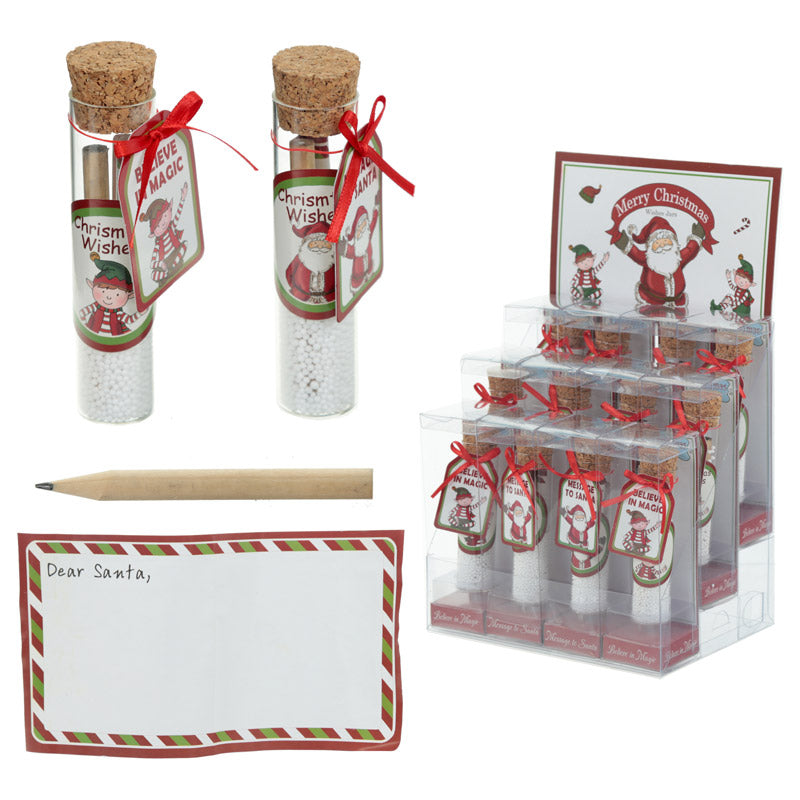 Festive Message to Santa Set - Christmas Elf Wishes Jar