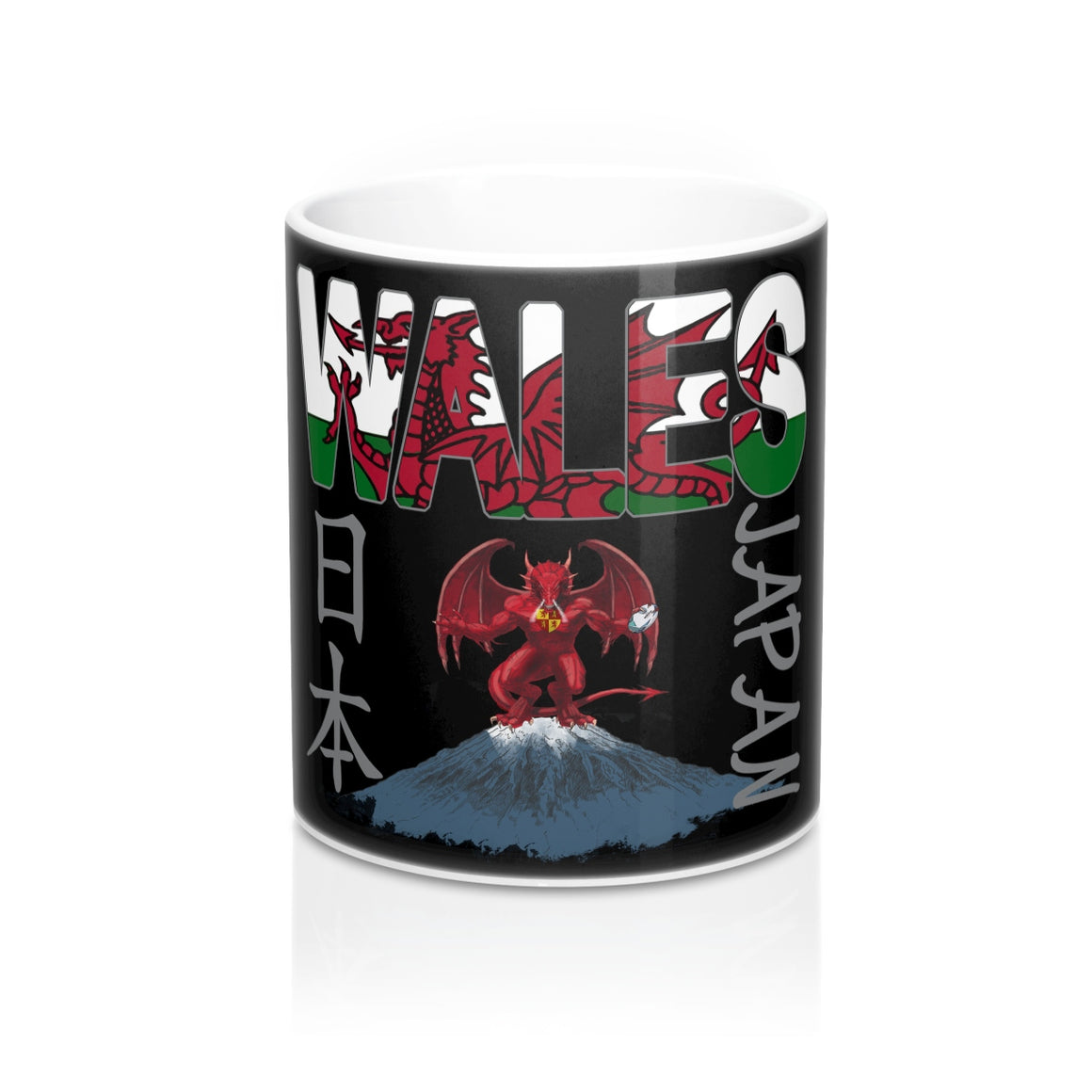 Wales Rugby World Cup 2019 Japan Mug 11oz Black