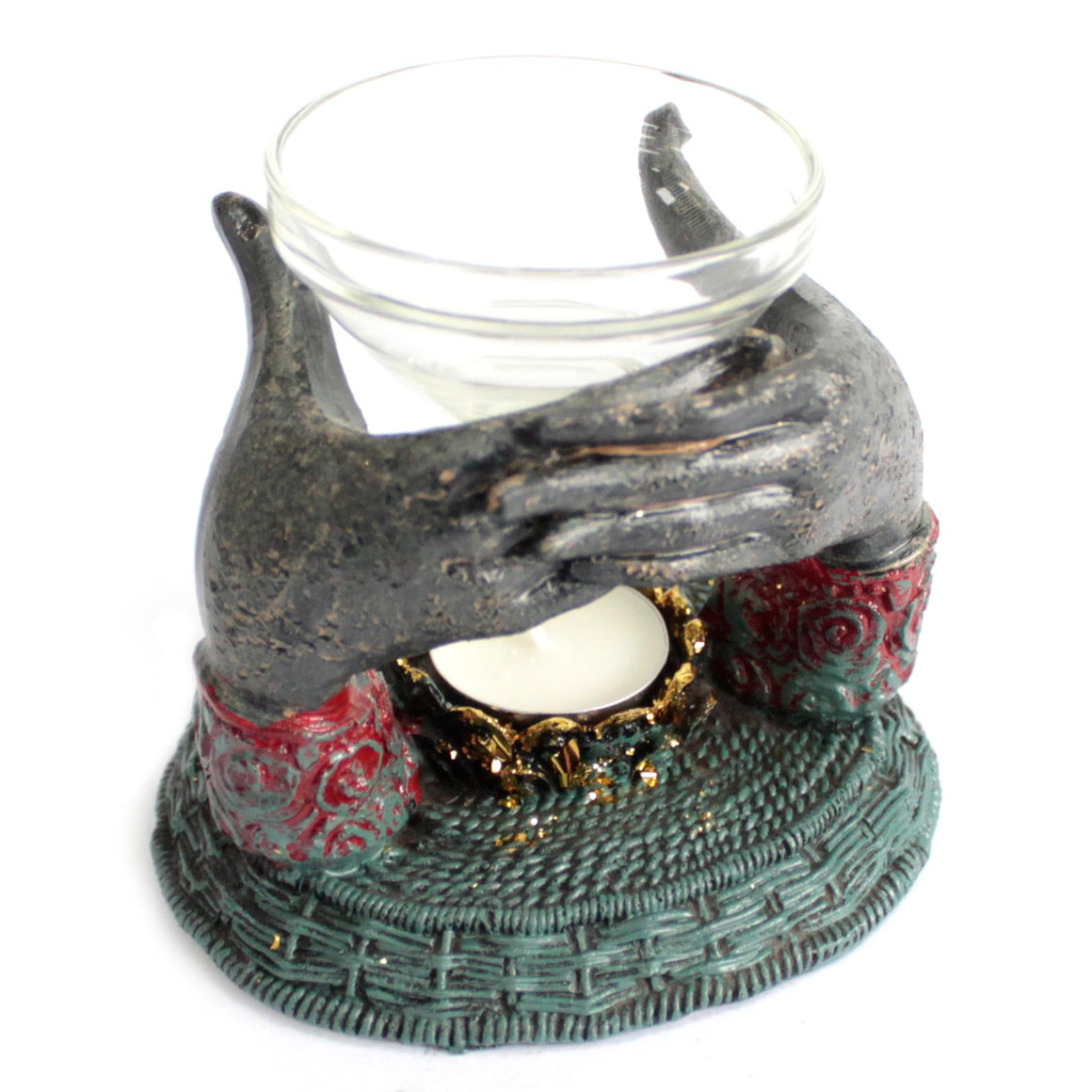 Antique Buddha Hands Oil Burner