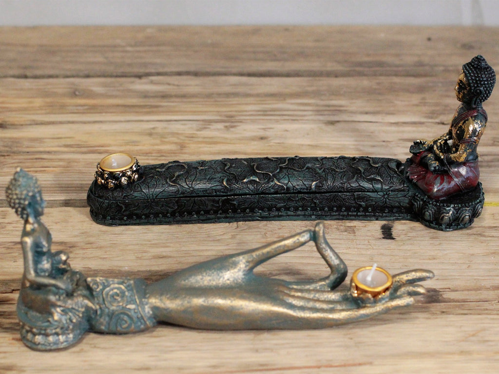 Antique Buddha Incense Burner & Box