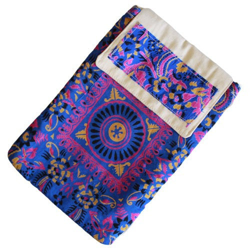 Alpana, Alpana Silk Pad Shoulder Bag, Bags, Blue, Ethnic Bags, Gift, India, Ipad, Shoulder Bag, Silk, Travel