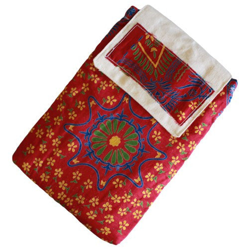 Alpana, Alpana Silk Pad Shoulder Bag, Bags, Ethnic Bags, Gift, India, Ipad, Red, Shoulder Bag, Silk, Travel